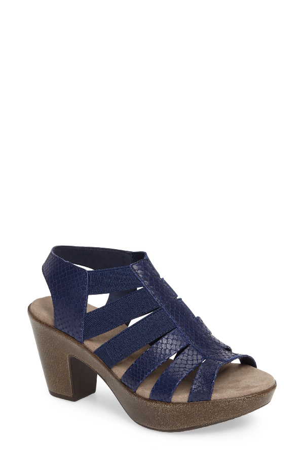 Munro 'cookie' Slingback Sandal In Blue Leather