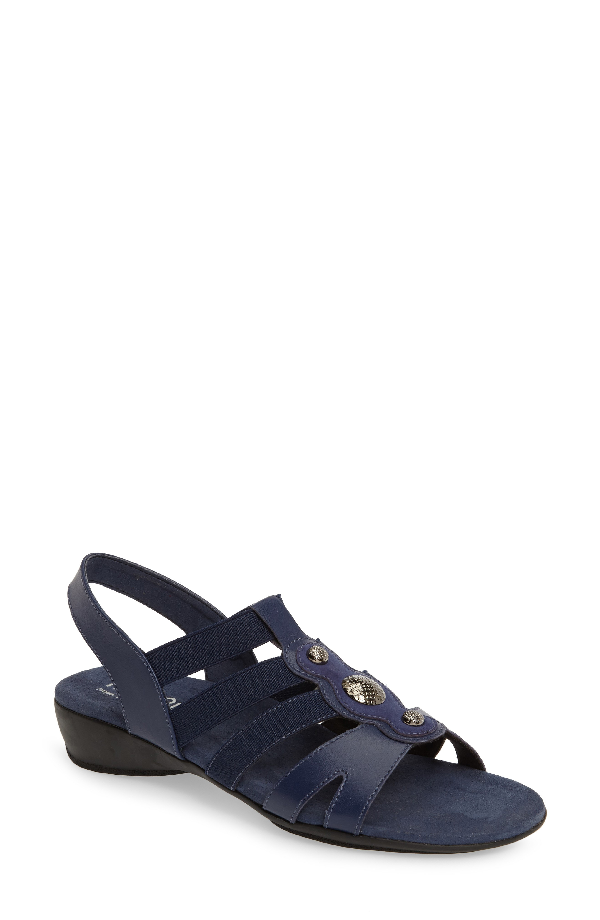 Munro Destiny Sandal In Blue Leather
