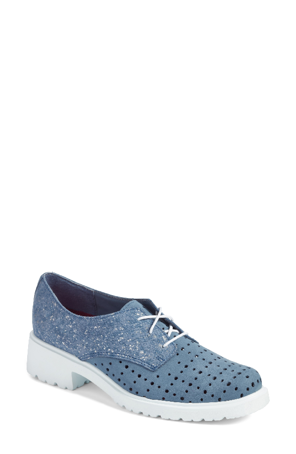 Munro Durell Oxford In Blue Nubuck Leather