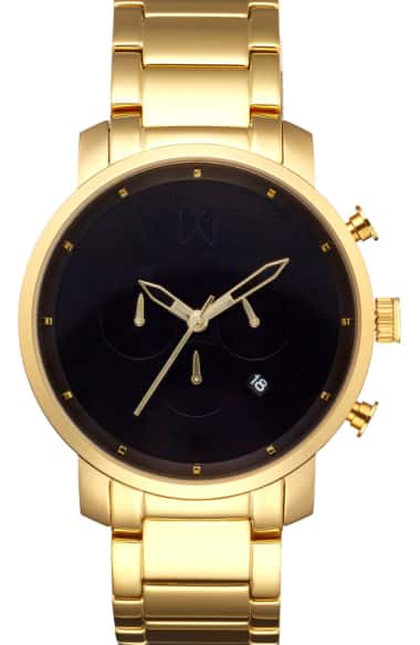 Mvmt Chronograph Bracelet Watch, 45mm In Gold/ Black