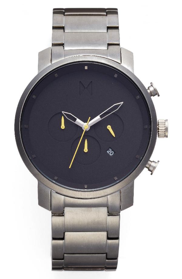 Mvmt Chronograph Bracelet Watch, 45mm (nordstrom Exclusive) In Black/ Gunmetal