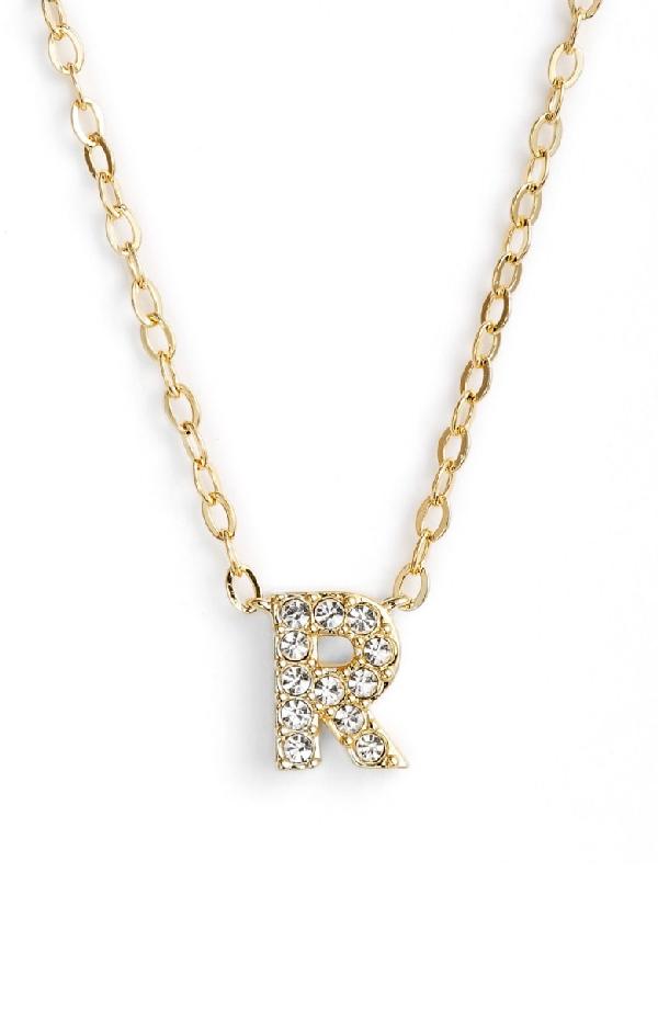 Nadri Initial Pendant Necklace In R Gold