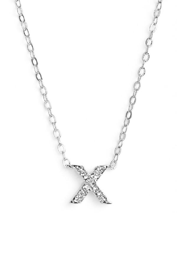 Nadri Initial Pendant Necklace In X Silver