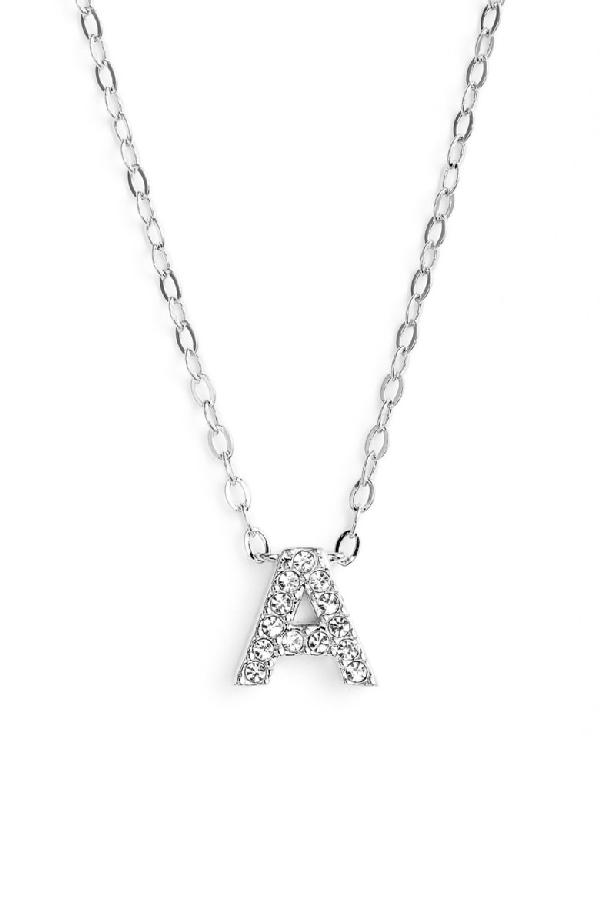 Nadri Initial Pendant Necklace In A Silver