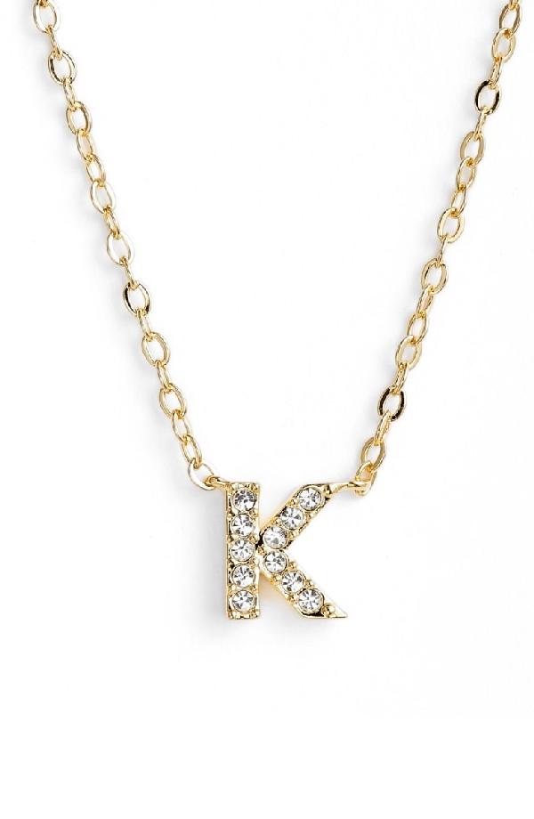 Nadri Initial Pendant Necklace In K Gold