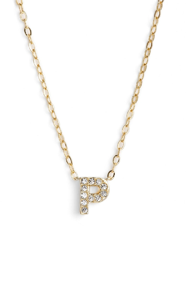 Nadri Initial Pendant Necklace In P Gold