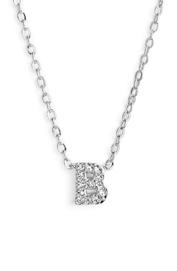 Nadri Initial Pendant Necklace In B Silver