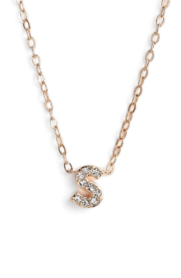 Nadri Initial Pendant Necklace In S Rose Gold