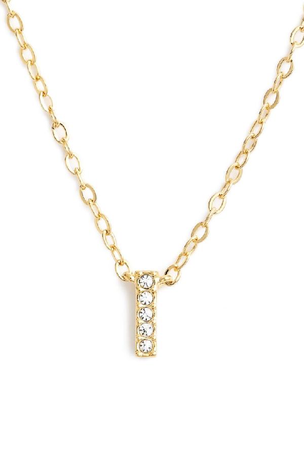 Nadri Initial Pendant Necklace In I Gold