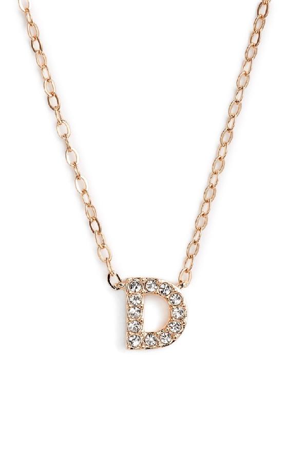 Nadri Initial Pendant Necklace In D Rose Gold