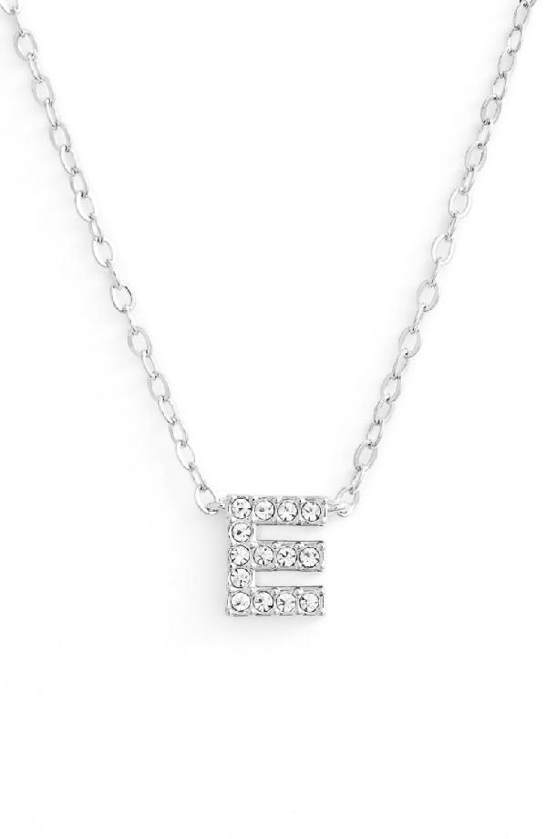 Nadri Initial Pendant Necklace In E Silver
