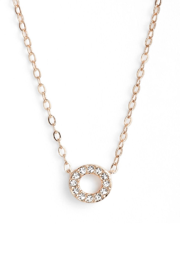 Nadri Initial Pendant Necklace In O Rose Gold