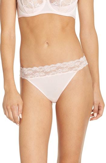 Betsey Johnson Lovely Lace Open Back Bikini In Tickle Me Pink