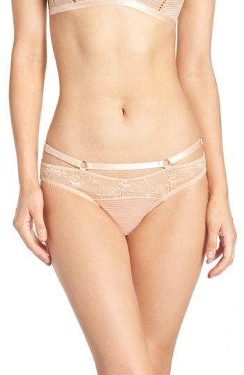 Dita Von Teese Lace Bikini In Creme Caramel