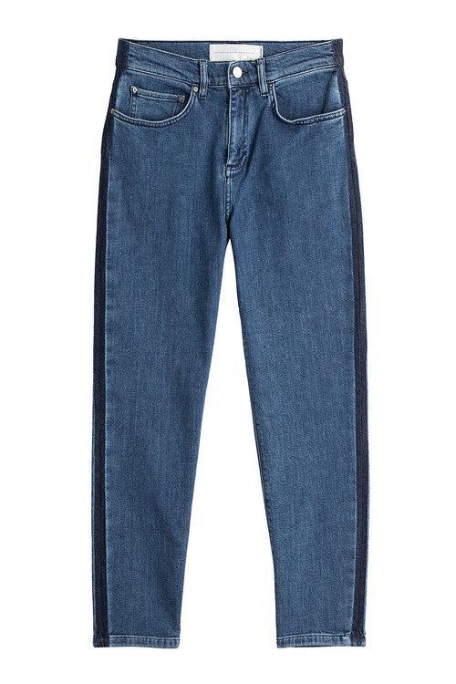 Victoria Victoria Beckham Neat Boy 7/8 Jeans In Blue