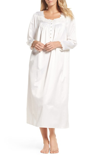 Eileen West Nightgown In Solid Winter White