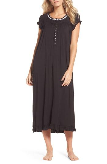 Eileen West Stretch Modal Nightgown In Black