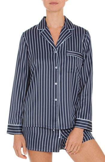 In Bloom By Jonquil Short Pajamas In Navy Stripe