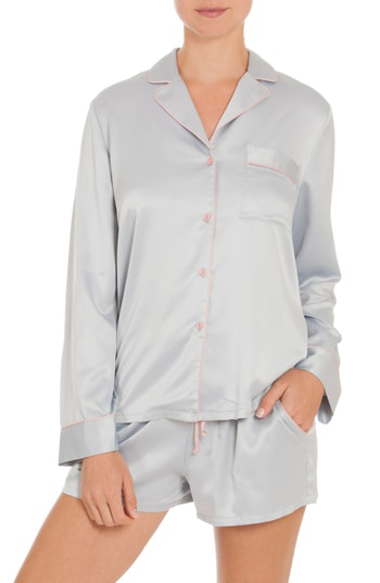 In Bloom By Jonquil Short Pajamas In Grey