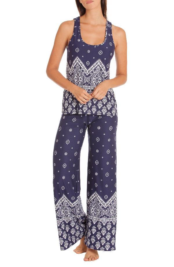 In Bloom By Jonquil Print Pajamas In Bandana Border
