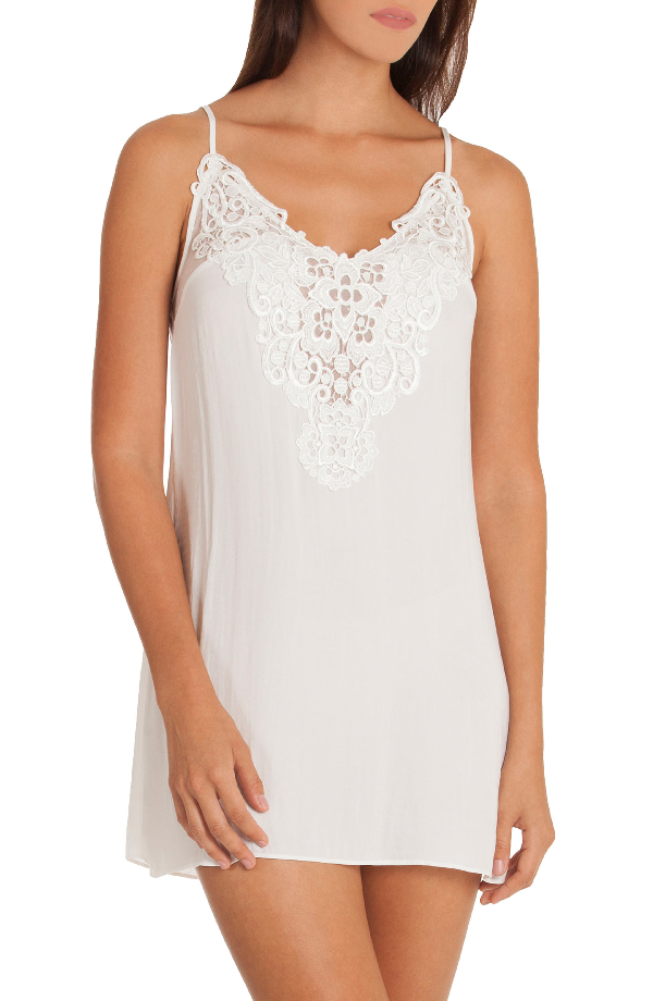 In Bloom By Jonquil Byzantine Washed Satin Chemise In Ivory