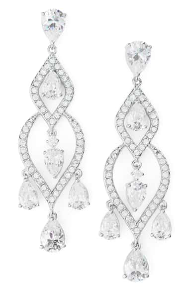 Nadri Legacy Chandelier Earrings In Silver