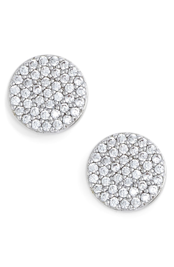 Nadri 'geo' Stud Earrings In Silver