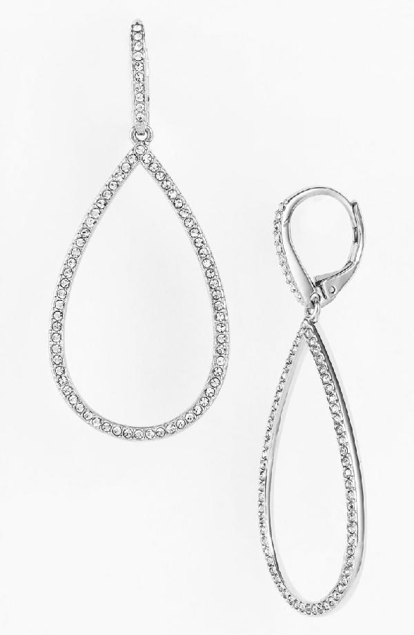 Nadri Teardrop Earrings In Silver