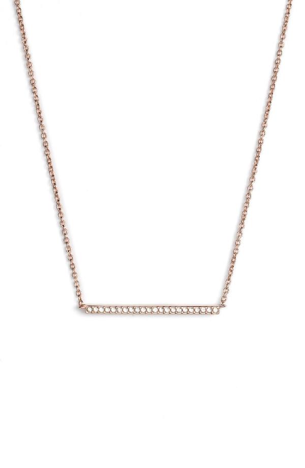 Nadri Bar Pendant Necklace In Rose Gold