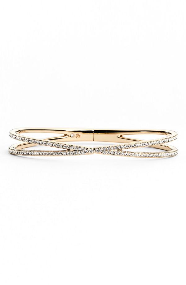 Nadri Pave Hinged Crossover Bracelet (nordstrom Exclusive) In Gold/ Clear