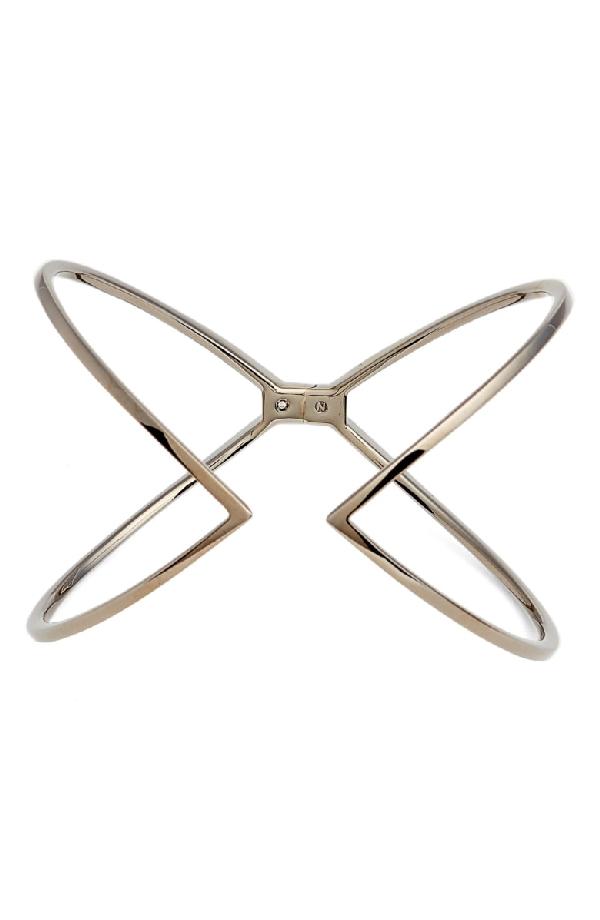 Nadri Open X Hinge Bracelet In Black