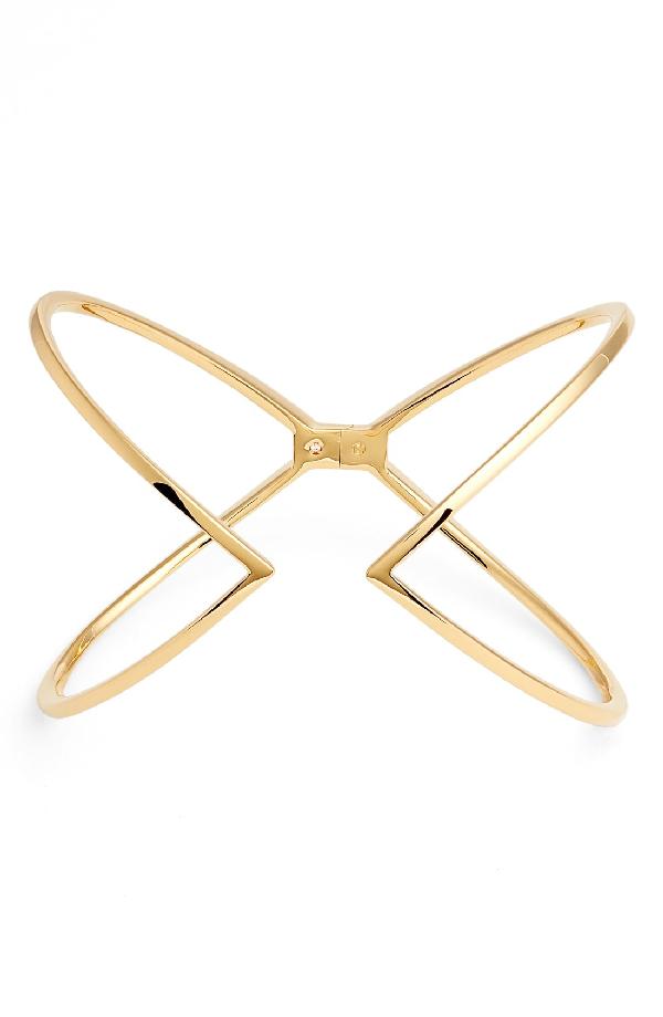 Nadri Open X Hinge Bracelet In Gold