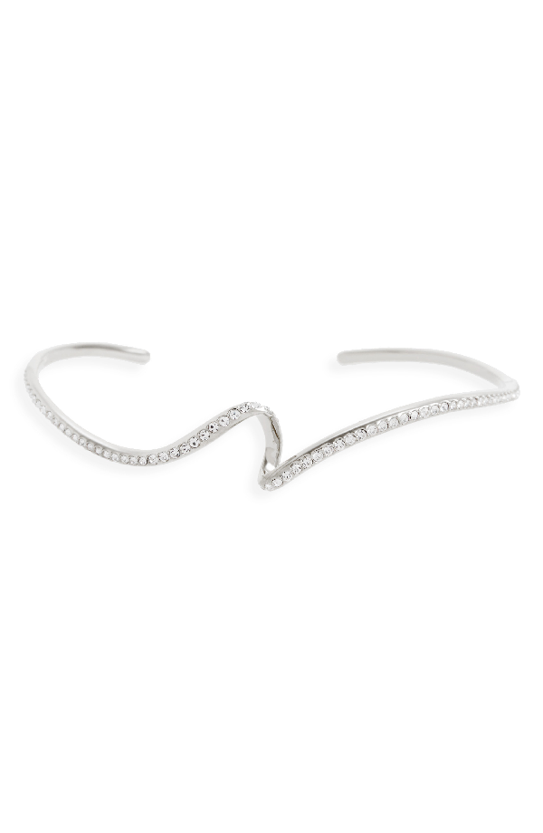 Nadri Citron Crystal Cuff In Rhodium