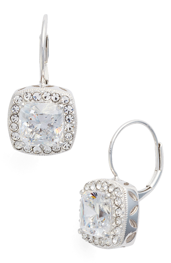 Nadri Cubic Zirconia Drop Earrings In Silver