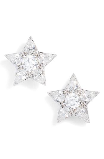 Nadri Reminisce Cubic Zirconia Star Earrings In Silver