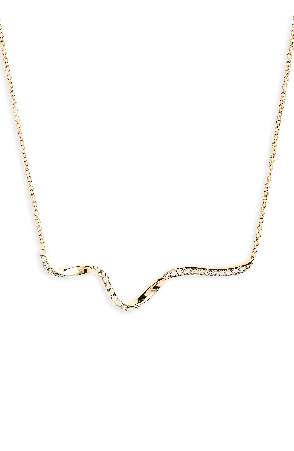 Nadri Citron Frontal Necklace In Gold