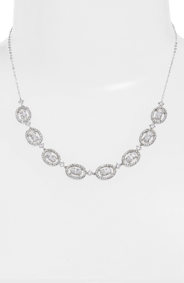 Nadri Frontal Necklace In Silver