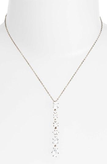 Nadri Cubic Zirconia Y-necklace In Black