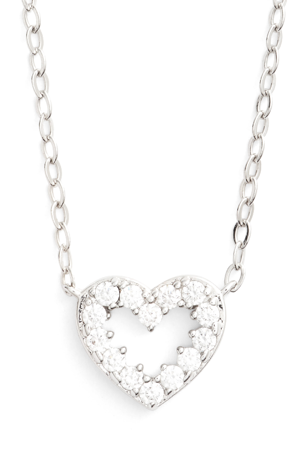 Nadri Reminisce Pendant Necklace In Rhodium