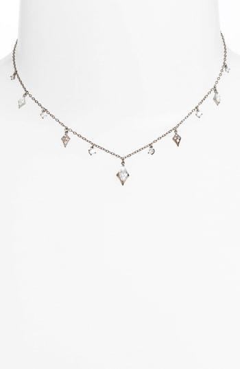 Nadri Noel Cubic Zirconia Dangling Choker Necklace In Black
