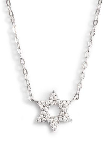 Nadri Reminisce Star Of David Pendant Necklace In Silver