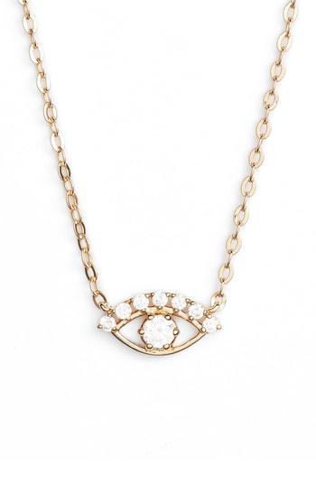 Nadri Reminisce Eye Necklace In Gold
