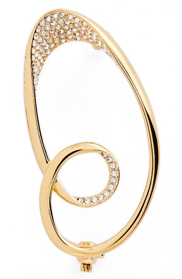 Nadri Modern Twist Pave Pin In Gold