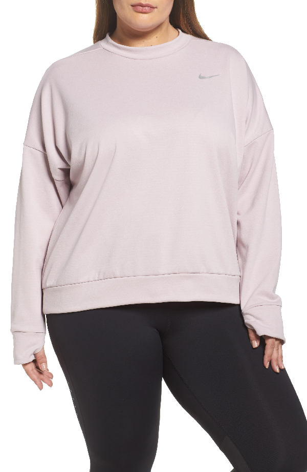 Nike Therma Sphere Element Running Top In Particle Rose