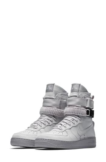 Nike Sf Air Force 1 High Top Sneaker In Dusty Peach/ Dusty Peach