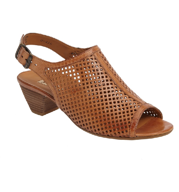 Paul Green Lois Slingback Sandal In Cuoio Leather
