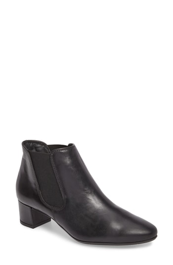 Paul Green Nell Hydro Water Resistant Bootie In Black Leather