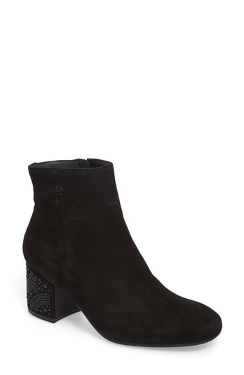 Paul Green Ronette Bootie In Black Suede