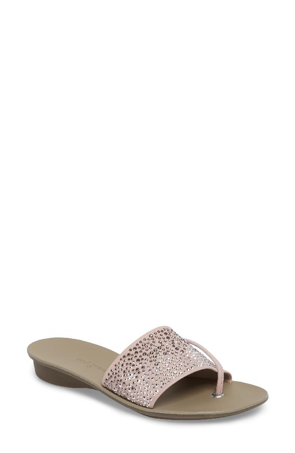 Paul Green Pixie Slide Sandal In Candy Softnubuk