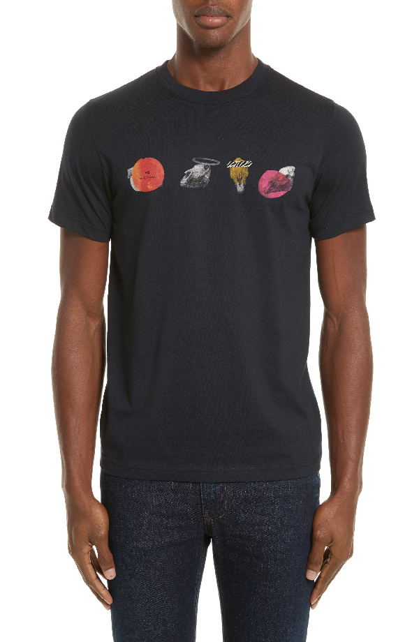 Ps By Paul Smith Mini Skulls Graphic T-shirt In Blue